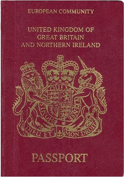 European Community common design passport of the United Kingdom