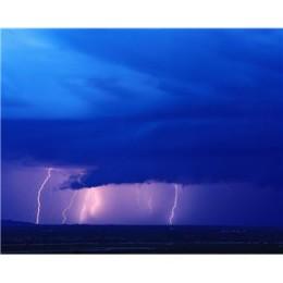 Lightening storm.