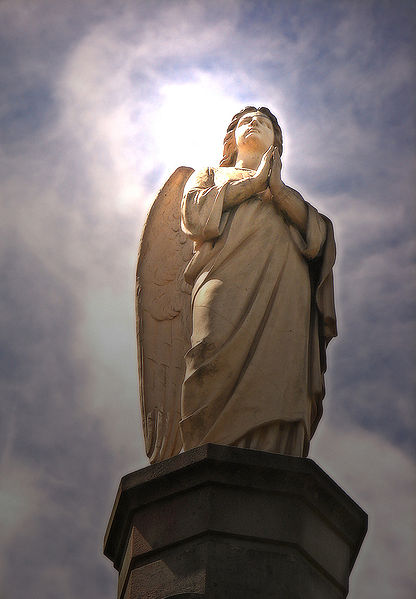 Photo of a statue of an angel.