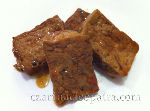 Tokwa (or soya bean cake) is a good source of protein and tastes delicious when cooked the adobo way.