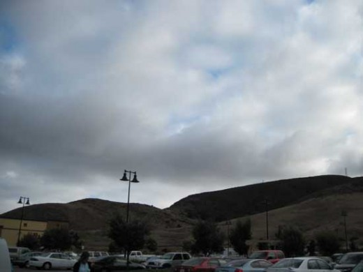 Storm lurks above Costco parking lot in San Luis Obispo
