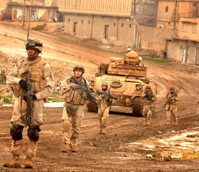 Photo of the 3rd Armored Cavalry Regiment in Iraq.