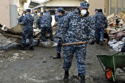 US Navy at cleanup in Japan after the 2011 tsunami.