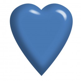Feel free to use this solid blue heart however you want.