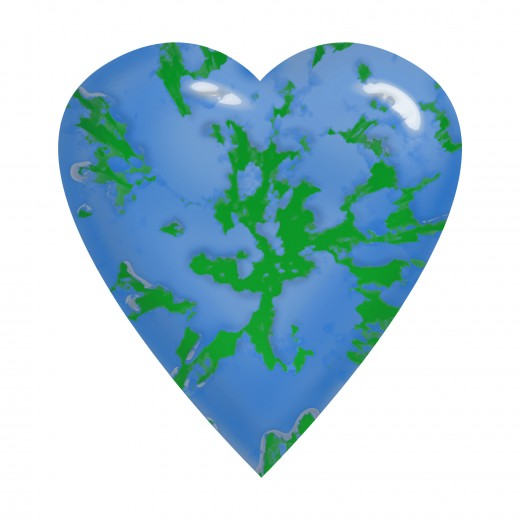 Abstract Earth Merges with a Heart.