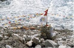 Prayer flags at base camp
