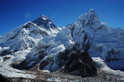 Mount Everest and Nubtse from Kala Patthar