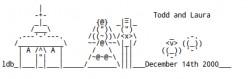 Wedding Rings, Cake, Bride and Groom: Wedding ASCII Text Art