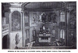 Lulworth Castle Interior where John Carroll was consecrated