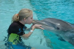Yes, I'm kissing a dolphin.