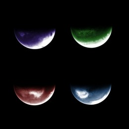 Webcam ictures of Mars taken by a low-tech camera aboard Europe's Mars Express orbiter showing clouds, craters and volcanoes.