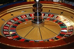 The roulette wheel and the number 12.