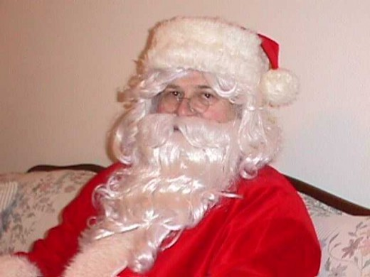 Santas are said to derive their happiness (when it comes) from the joy they bring to others.
