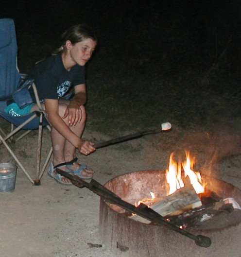 Roasting marshmallows around the camp fire with the grandchildren is a memorable experience for everyone.