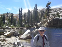 Yours truly at Lyons Lake, in the Northern Sierra Nevada Mountains, near Lake Tahoe