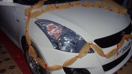 White Maruti Swift Vdi Headlights - 2011 version