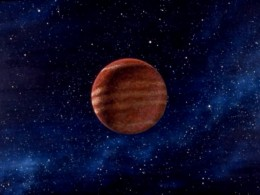 Gas Giant (Painting by Carl Martin. Originally developed for the Saul Bass film of a Ray Bradbury short story, Quest.)