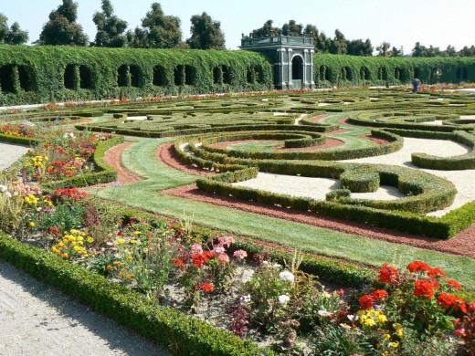 Privy Garden - Schönbrunn Palace in Vienna, Austria