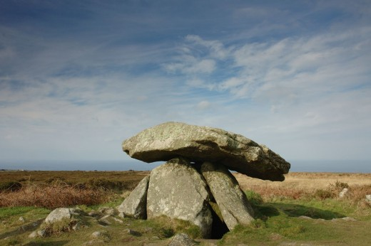 Chun Quoit, situated high on the moors of West Cornwall beyond Penzance