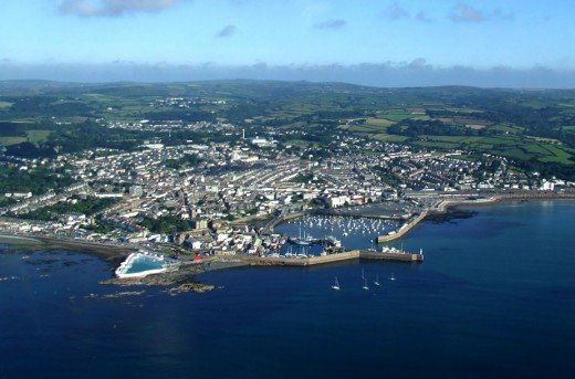 Penzance from the air
