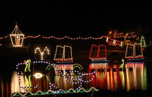Mousehole's famous Christmas harbour lights