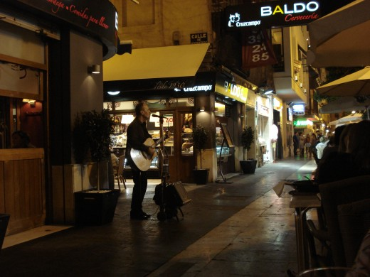 dinner in Valencia, Spain