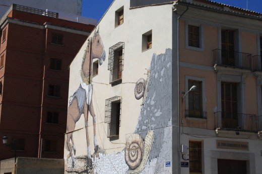 lots of grafitti in valencia, spain