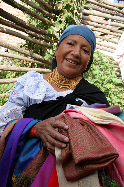 Otavalo Woman in Traditional Dress