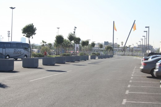 Formula 1 racing road, Valencia, Spain