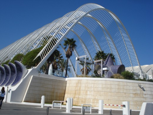 The City of Arts and Sciences Complex, Valencia, Spain - exotic, tropical garden