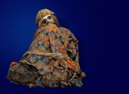 An Andean Mummy with a Traditional Textile
