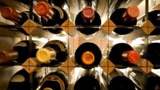 A wine cellar rack