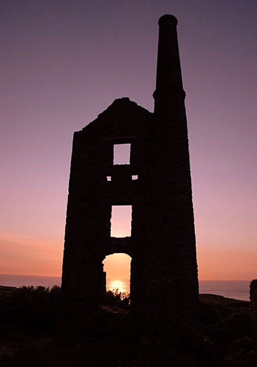 Carn Galva engine house on the north Cornwall coast near Penzance