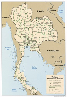 Administrative Map of Thailand