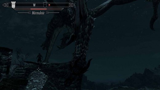 Skyrim Defeating the First Dragon Mirmulnir