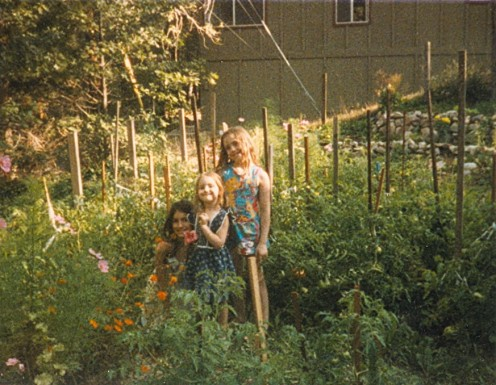 Sisters love to garden together.