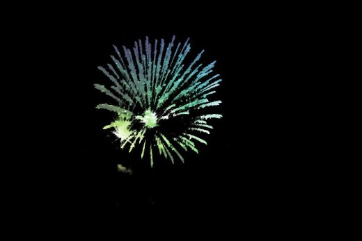 This was a firework, with some color editing I was able to get this product. ©Sarah Haworth 2010-2011.