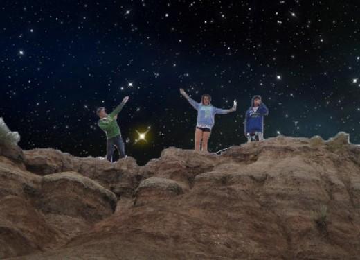 Made the background sky starry. ©Sarah Haworth 2010-2011.