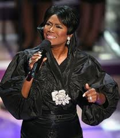 MS. JUANITA BYNUM, IS A SPECIAL GOSPEL SINGER. SHE HAS BEEN KNOWN TO SING BEAUTIFUL SONGS OF COMFORT AT FAMOUS PEOPLE WHO HAVE PASSED AWAY.