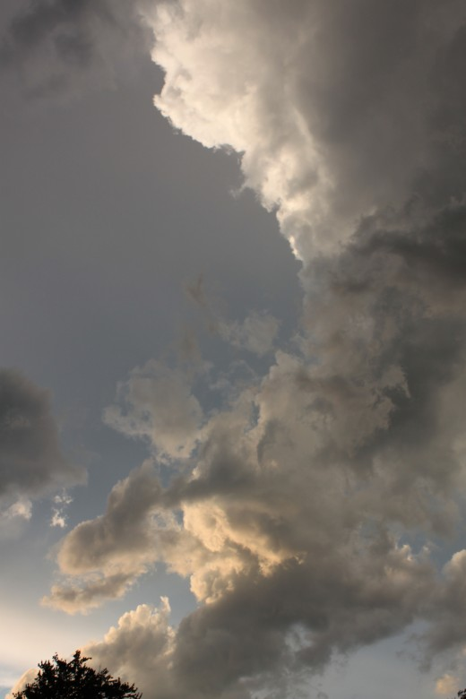 the backside of a thunderstorm in early August 2011