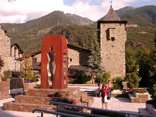Andorra la Vella, Andorra's capital.