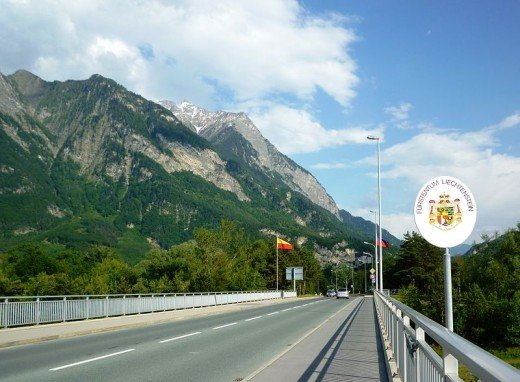 Crossing into Liechtenstein from Switzerland.