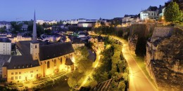 Luxembourg City, Luxembourg's capital.