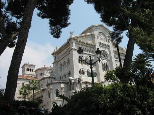 Monaco Cathedral. Monte Carlo.