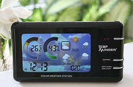 Minder Research MRI-177AN LCD Thermo/Hygrometer Weather Station | image credit: Smarthome