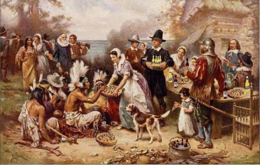 The First Fun Thanksgiving, after J.L.G. Ferris