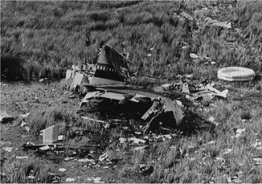 The wreckage of Eastern Airlines Flight 401