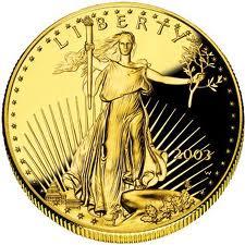 A 1 ounce Gold coin