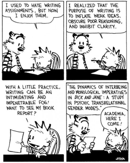 Calvin and Hobbes: On essay writing