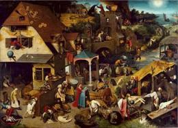 Pieter Bruegel's Netherlandish  Proverbs 1559-1560